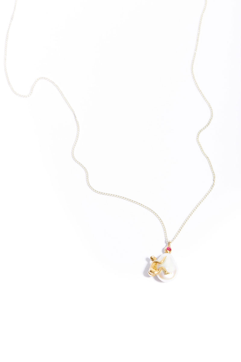 Ruby Clinger Necklace