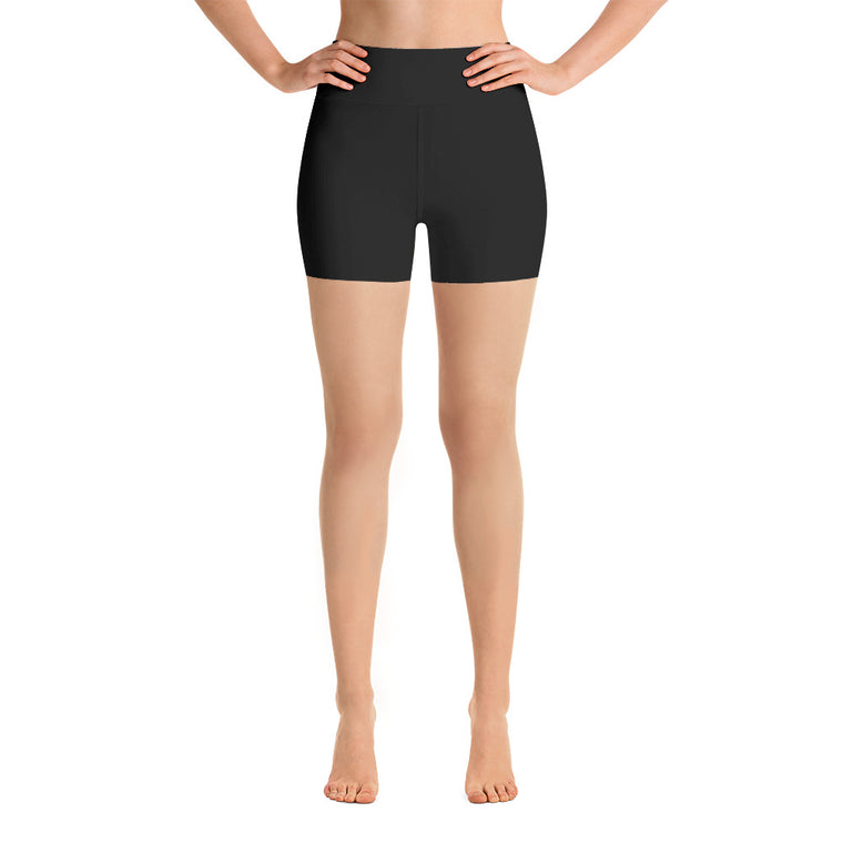 Black High Rise Yoga Shorts