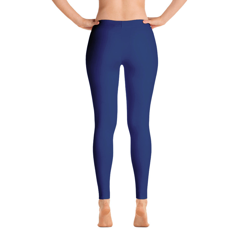 Navy Mid Rise Yoga Leggings