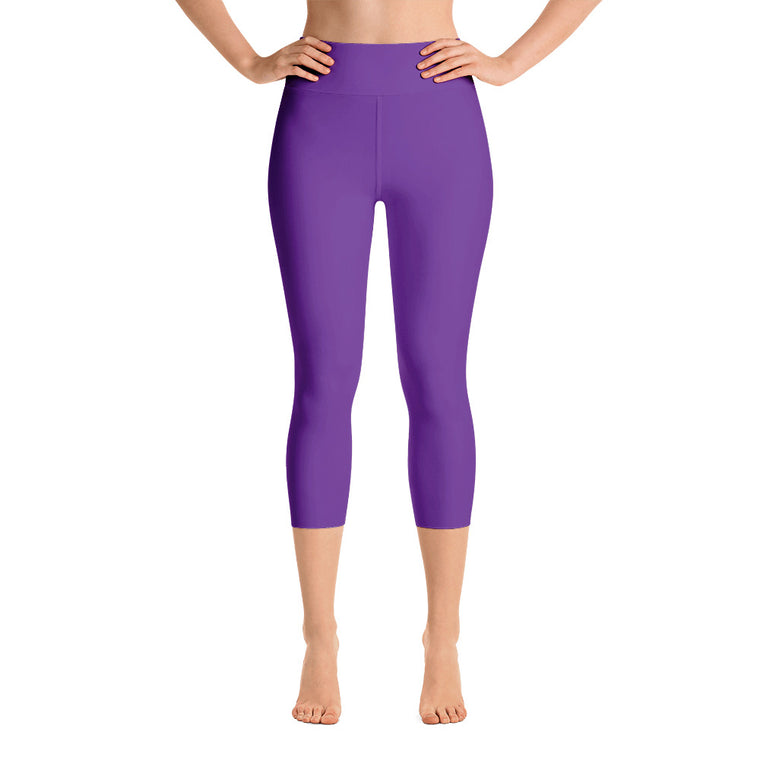 Violet High Rise Capri Leggings