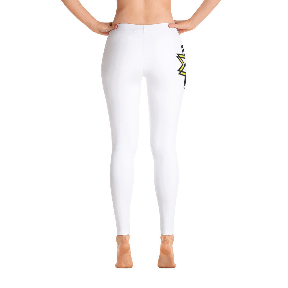 Inspired Mid Rise Leggings - White