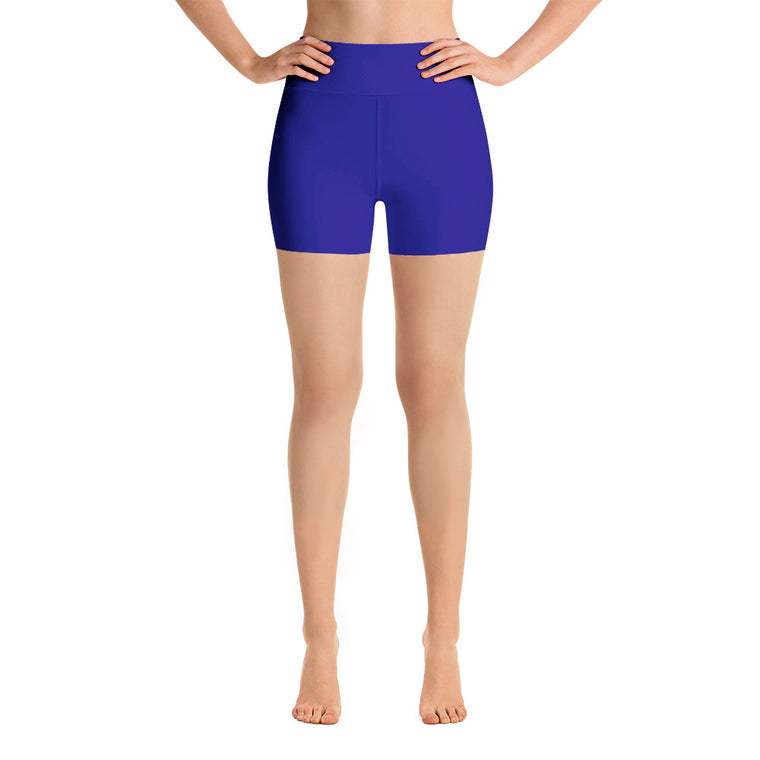 Royal Blue High Rise Yoga Shorts