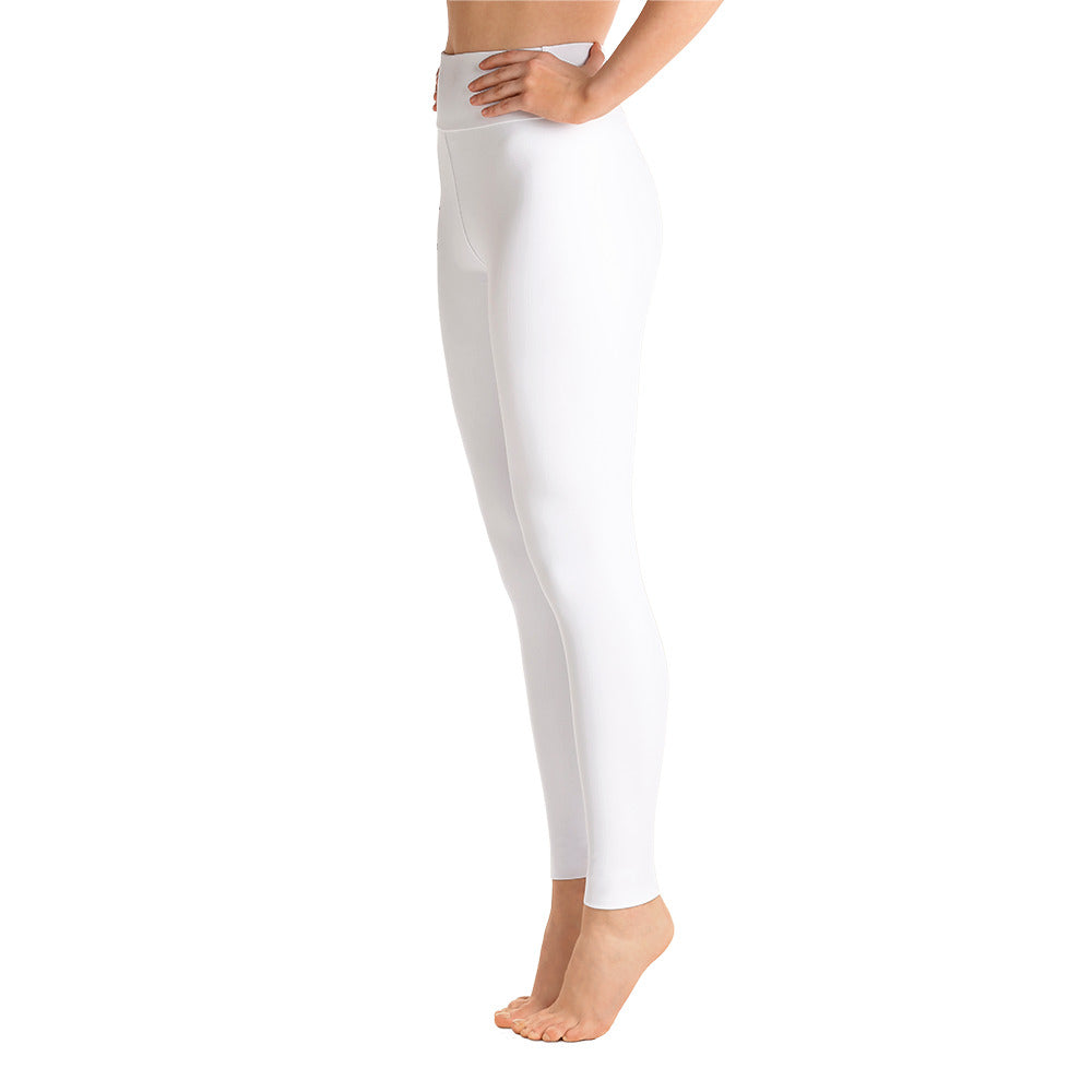 Inspired High Rise Yoga Leggings - White