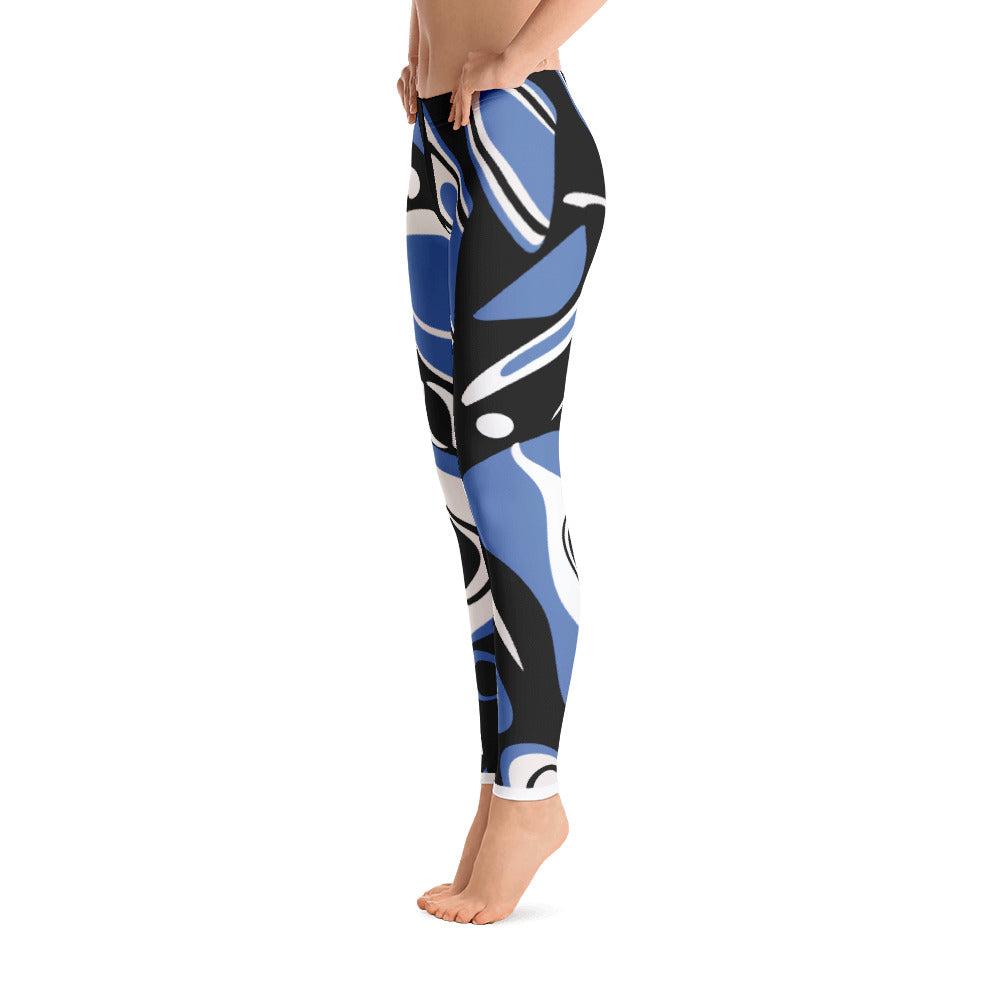 Go West Mid Rise Yoga Leggings - Blue