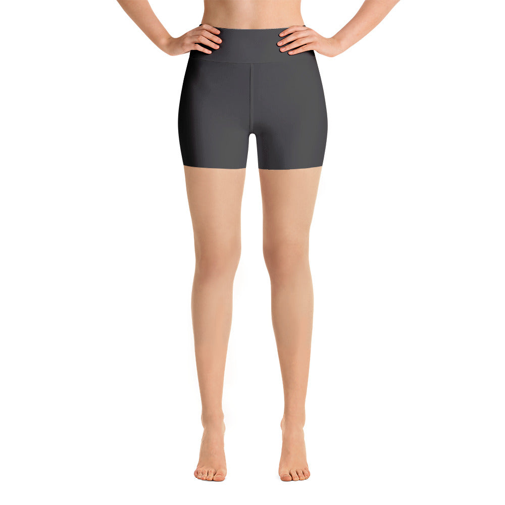 Deep Grey High Rise Yoga Shorts