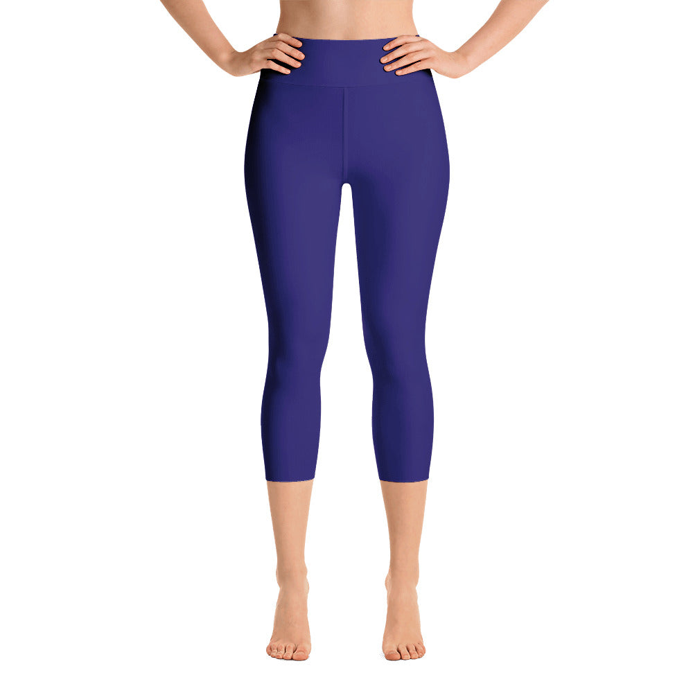 Indigo High Rise Capri Leggings