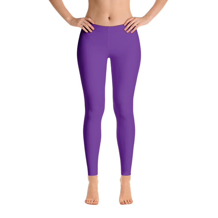 Violet Mid Rise Yoga Leggings