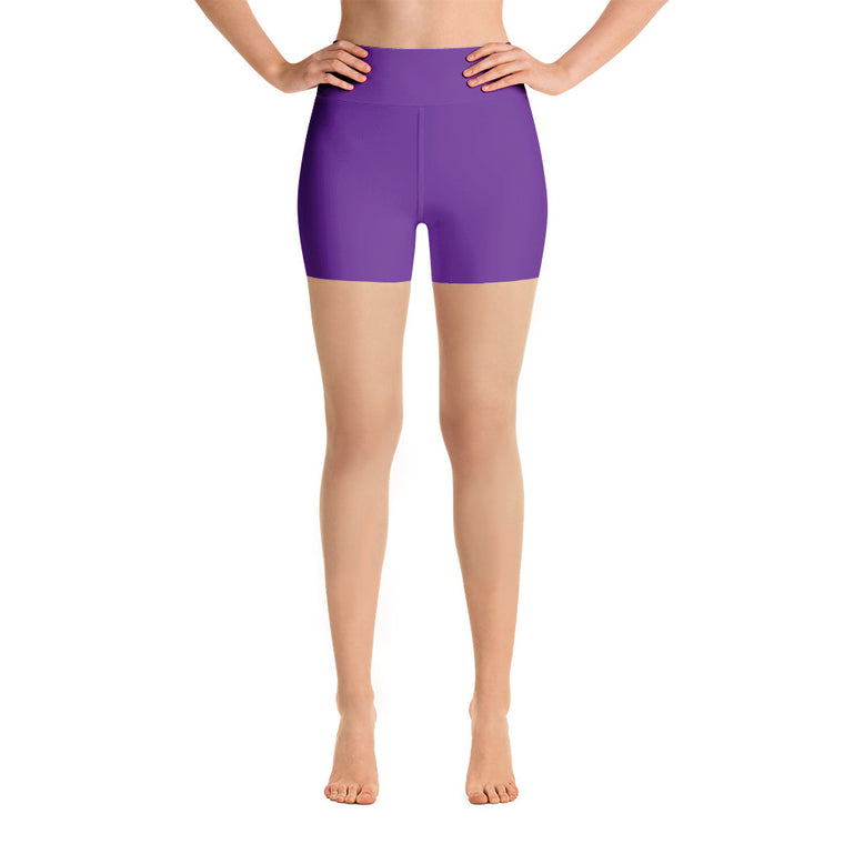 Violet High Rise Yoga Shorts