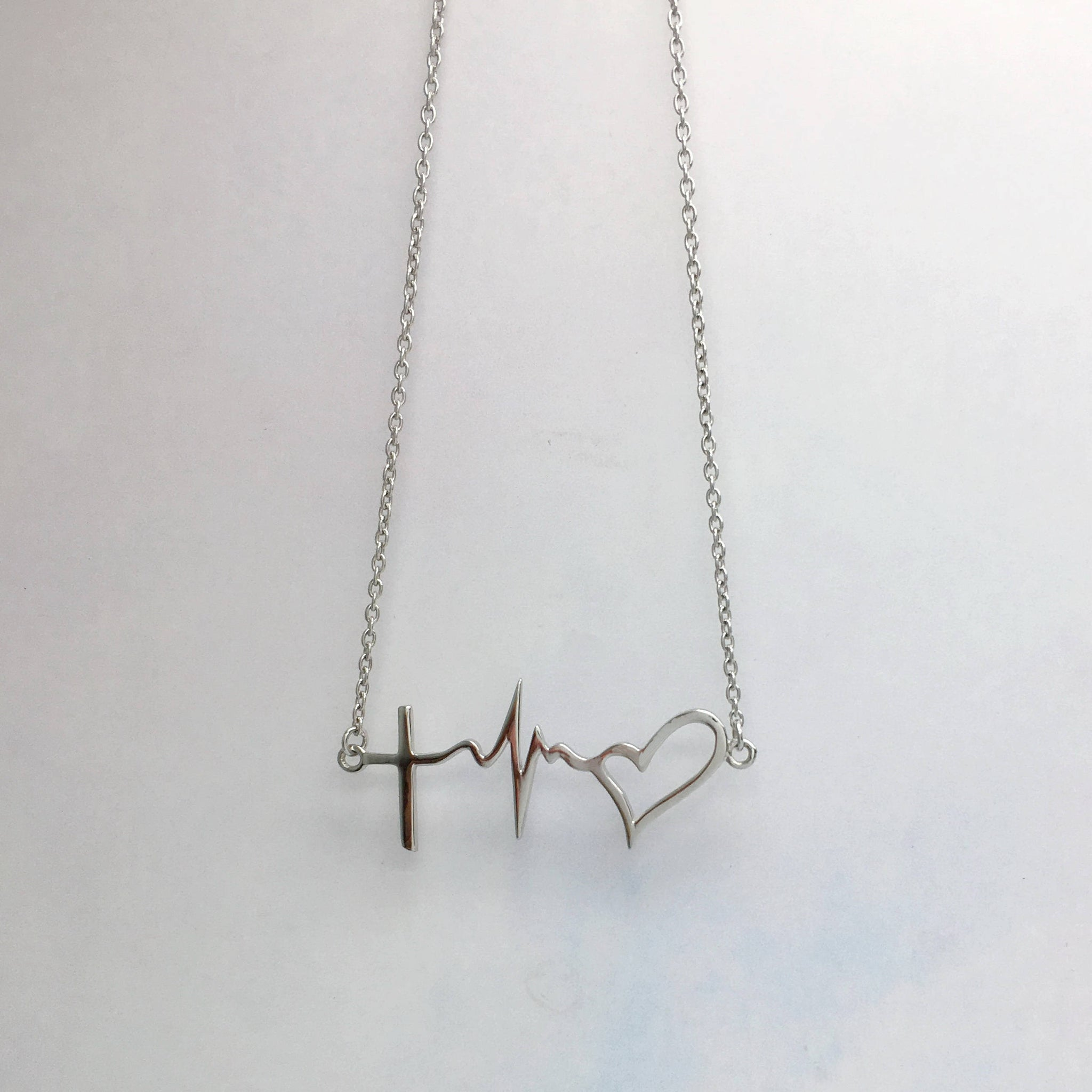 Sterling silver faith hope love necklace jewelry autumn lines sterling silver faith hope love necklace aloadofball Choice Image