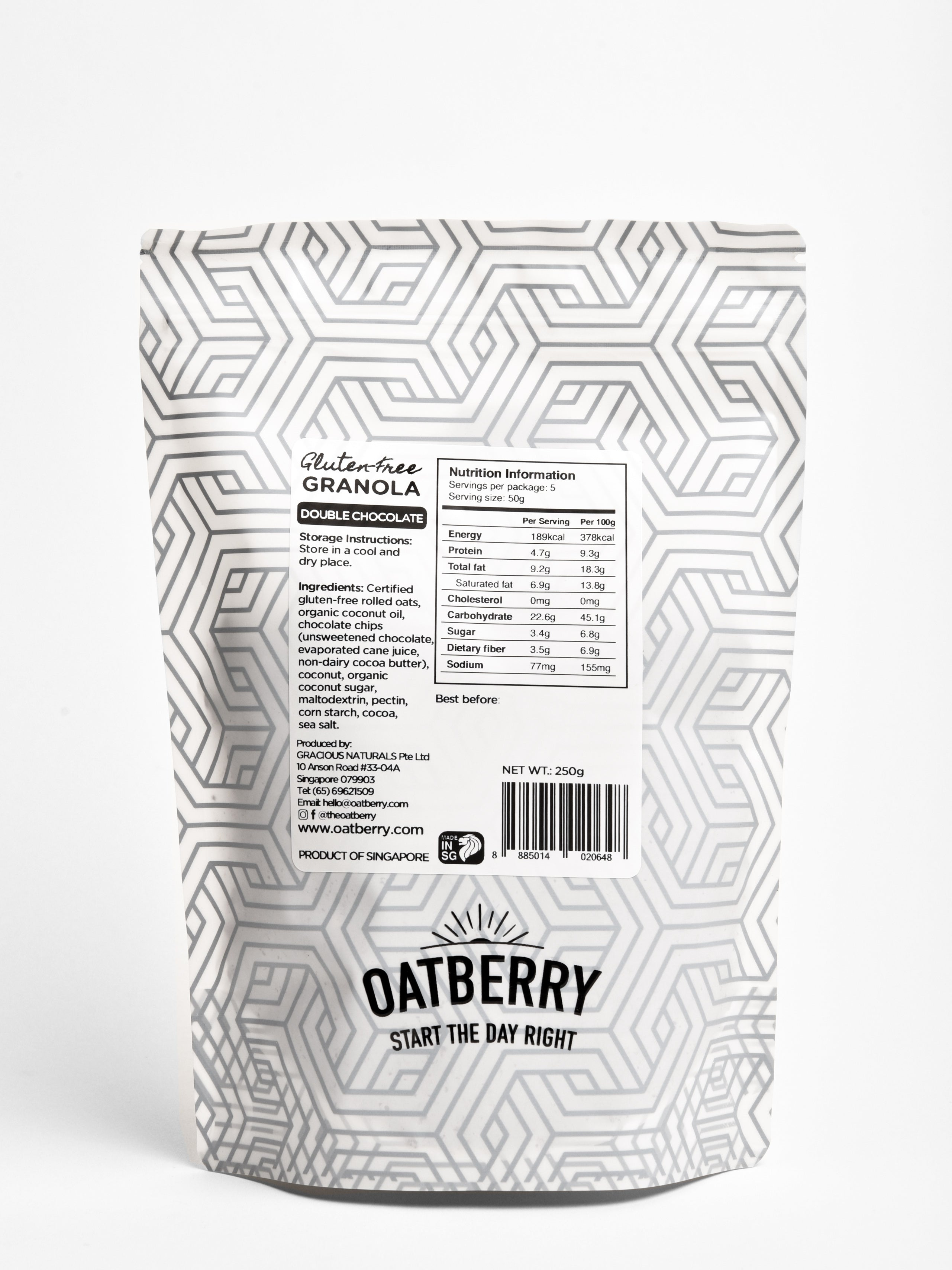 Oatberry Double Chocolate Gluten-Free Granola (80g & 250g)