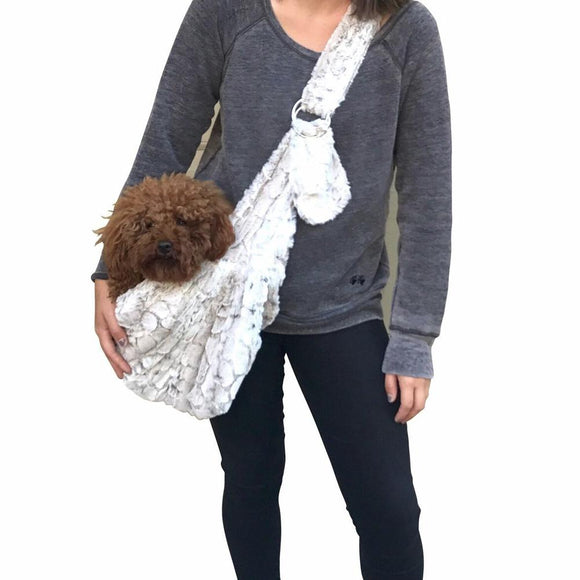 Carriers And Slings To Carry Your Dog Child With You. - Dog Carrier Tote Frosted Sno Adjustable Sling Bag Designed To Be Used With A Cozy