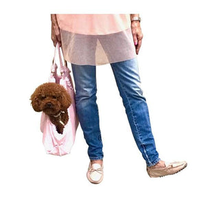 Carriers And Slings To Carry Your Dog Child With You. - Hollywood Dog Tote, Pink Snake