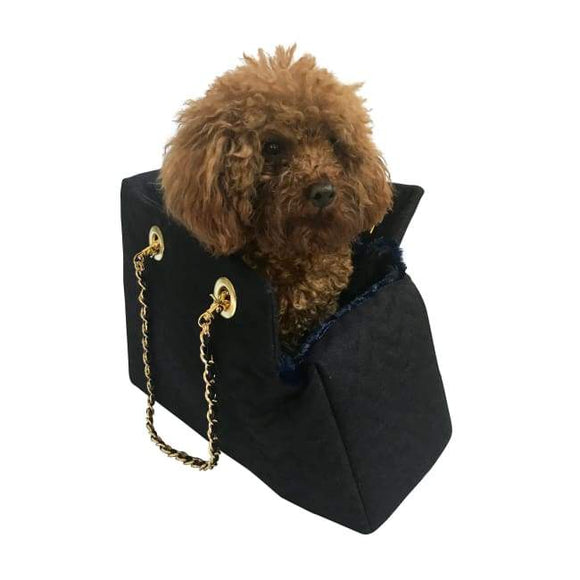 Carriers And Slings To Carry Your Dog Child With You. - Kate Quilted Carrier Dog Carrier Purse Featured By Dog Parents Online