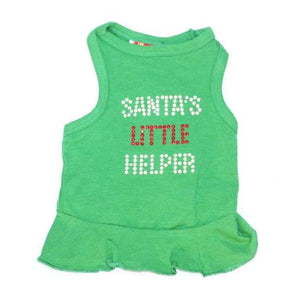 Clothes - Dog Dress Santa's Little Helper Dress