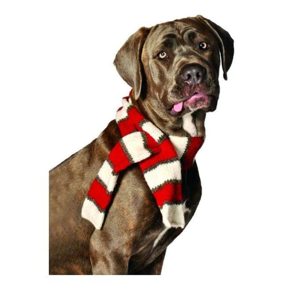 Clothes - Dog Scarves White And Reds Scarf