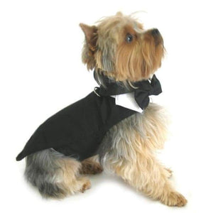 Clothes - Dog Tuxedo For Wedding With Tails, Bow, Cotton Collar Wedding Male Dog Tuxedo