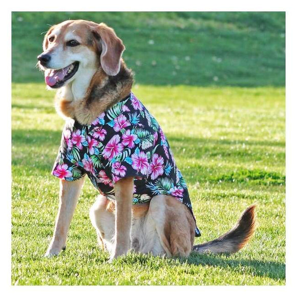 Clothes - Hawaiian Camp Shirt Paradise Nights | Dogparentsonline.com