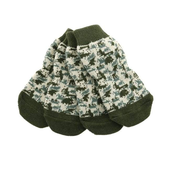 Clothes - Socks For Dogs Non Skid Dog Socks Green Camo