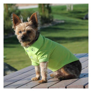 Clothes - Solid Dog Polo Green Flash Great Looking