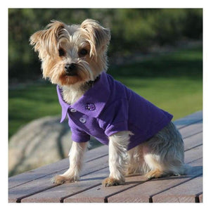 Clothes - Solid Dog Polo Ultraviolet Casual Look Very Nice.