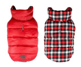 Dog Coats - Dog Coats Gingham Reversible Puffer Vest