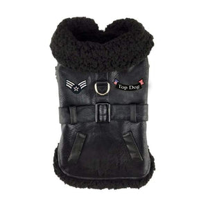 Dog Coats - Warm Dog Coat Top Dog Black Color
