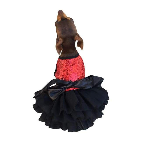 Dog Dresses - Dog Dress Fufu Tutu Red