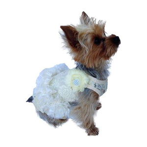 Dog Dresses - Dog Dress Garden Party Tutu Ivory