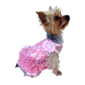 Dog Dresses - Dog Dress Garden Party Tutu Pink