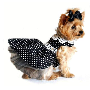 Dog Dresses - Dog Dresses Boutique Polka Dot Dog Dress - Black And White