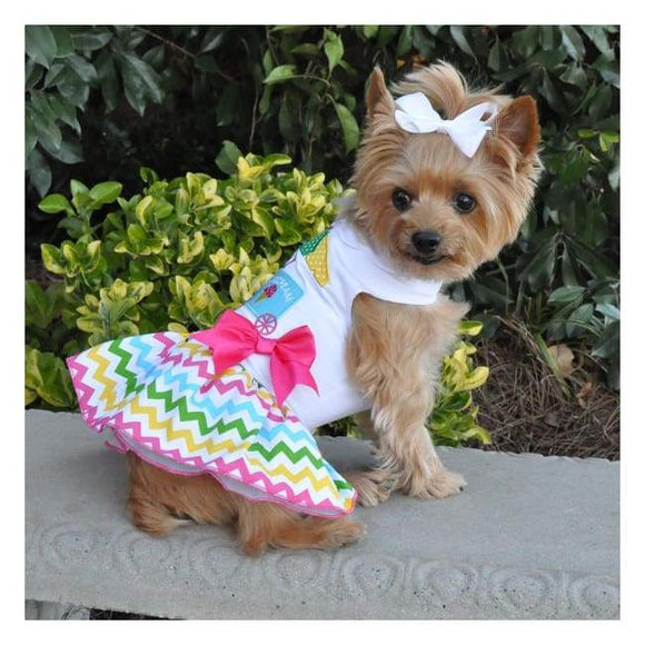 Dog Dresses - Dog Dresses So Cute Get Them Now!  Boutique Ice Cream Cart Dress With Matching Leash