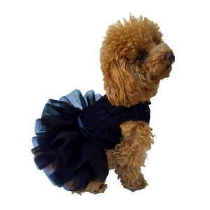 Dog Dresses - Fufu Tutu Black Lace