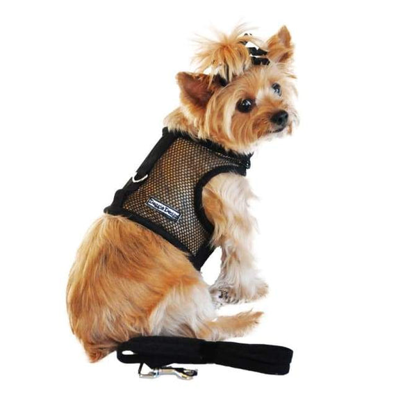 Dog Harness - Dog Harness American River Harness Cool Mesh Dog Harness  Solid Black