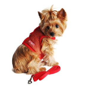 Dog Harness - Dog Harness American River Harness Cool Mesh Dog Solid Red Harness