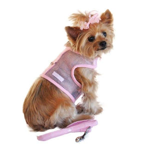 Dog Harness - Dog Harness American River Harness Cool Mesh Solid Pink Dog