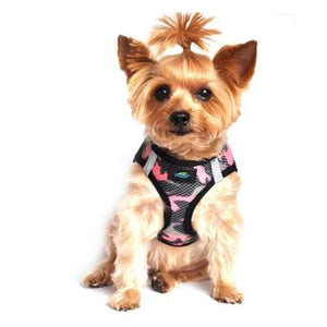 Dog Harness - Doggie Design American River Special Camouflage Dog Harness Pink Camouflage