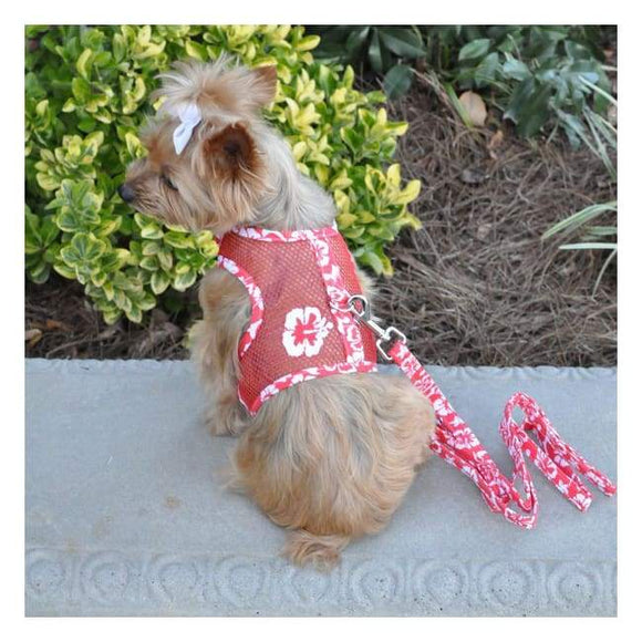 Dog Harness - Doggie Design Cool Mesh Harness Red Hibiscus Cool Mesh Dog Harness