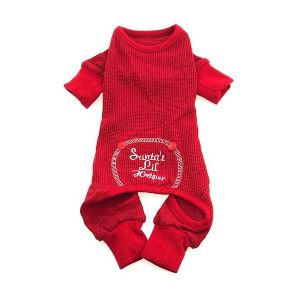 Dog Pajamas - Dog Pajamas Sweet Dreams Thermal Dog Pajamas Santa's Helper