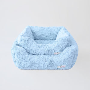 dog bed small baby blue