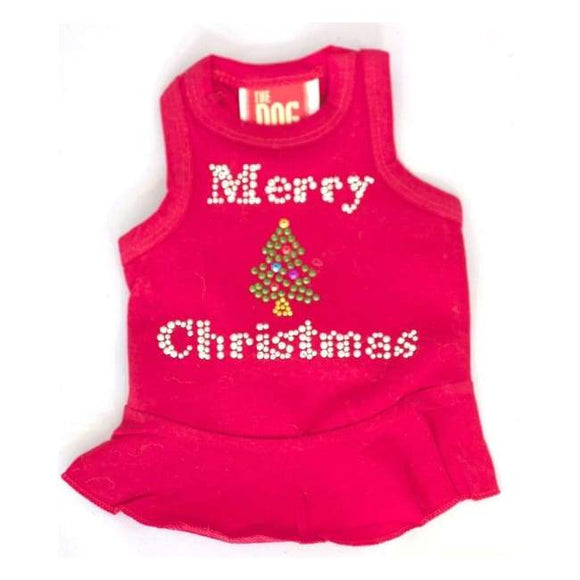 Pet Gifts For People - Dog Tank Top Merry Christmas Tree Tank.