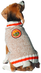 Warm Dog Sweaters - Adventure Club Patch Wool Dog Sweater