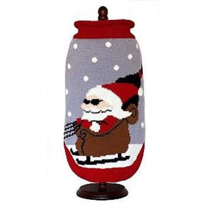 Warm Dog Sweaters - Dog Sweater Cool Santa In Sunglasses
