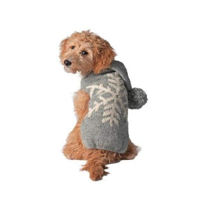 Warm Dog Sweaters - Dog Sweater Gray Alpaca Snowflake Sweater