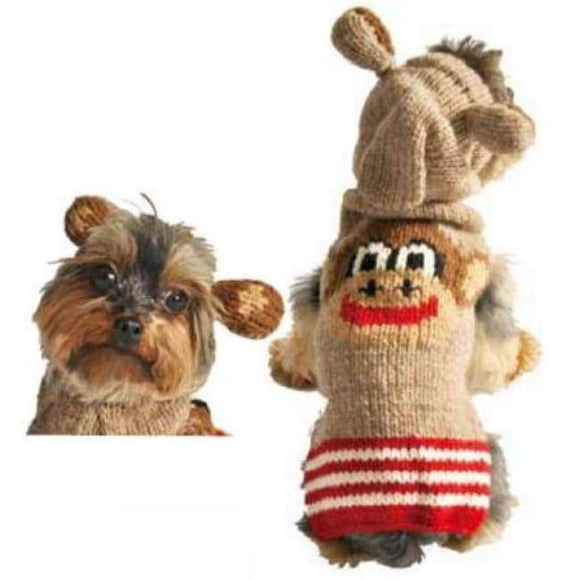 Warm Dog Sweaters - Dog Sweater Monkey Hoodie
