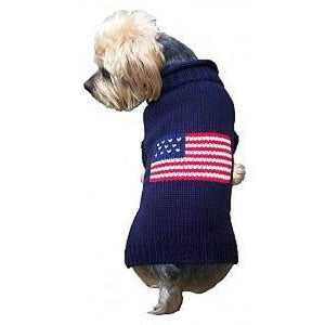 Warm Dog Sweaters - Dog Sweater Patriotic Pup Navy