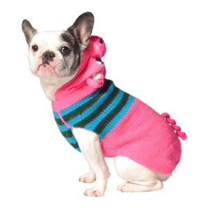 Warm Dog Sweaters - Dog Sweater Pink Piggy Hoodie Dog Sweater