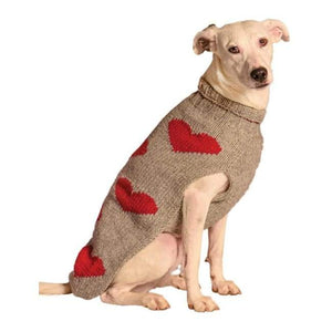 Warm Dog Sweaters - Dog Sweater Red Hearts Sweater | Dogparentsonline.com