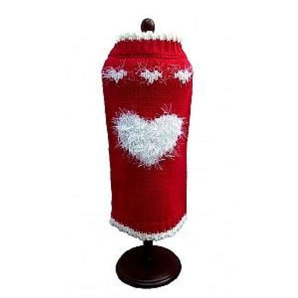 Warm Dog Sweaters - Dog Sweater Red Sweetheart Sweater