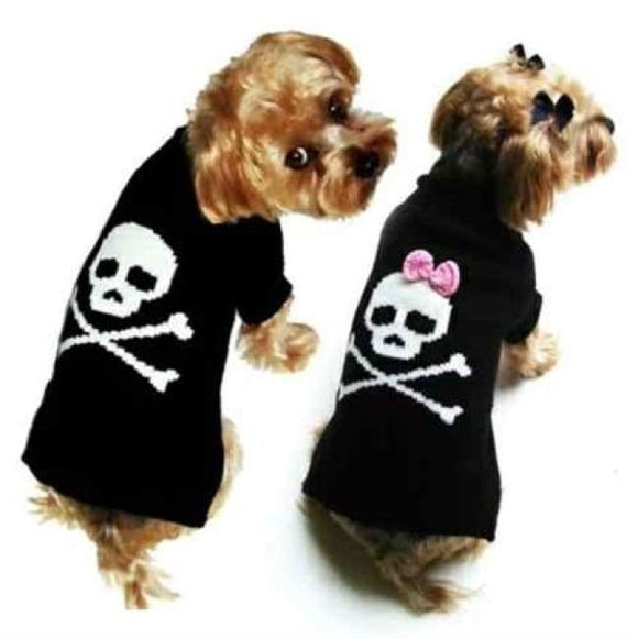 Warm Dog Sweaters - Dog Sweaters Jolly Rogers Girl