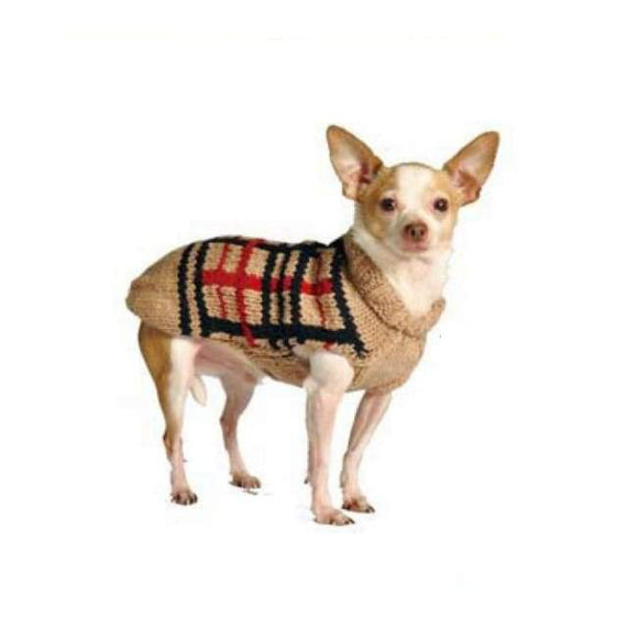 Warm Dog Sweaters - Dog Sweaters Tan Plaid